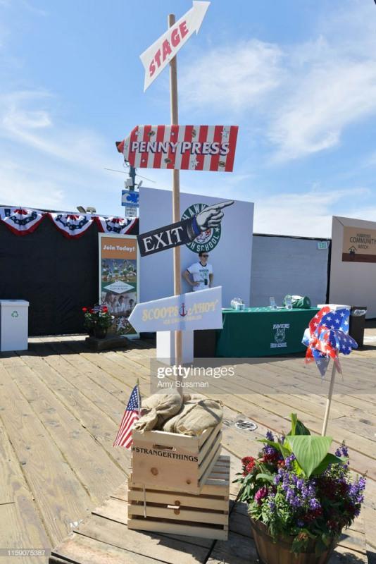"SANTA MONICA, CALIFORNIA - JUNE 29: Atmosphere at the Netflix's ""Stranger Things"" Season 3 Fun Fair at Santa Monica Pier on June 29, 2019 in Santa Monica, California. (Photo by Amy Sussman/Getty Images)"