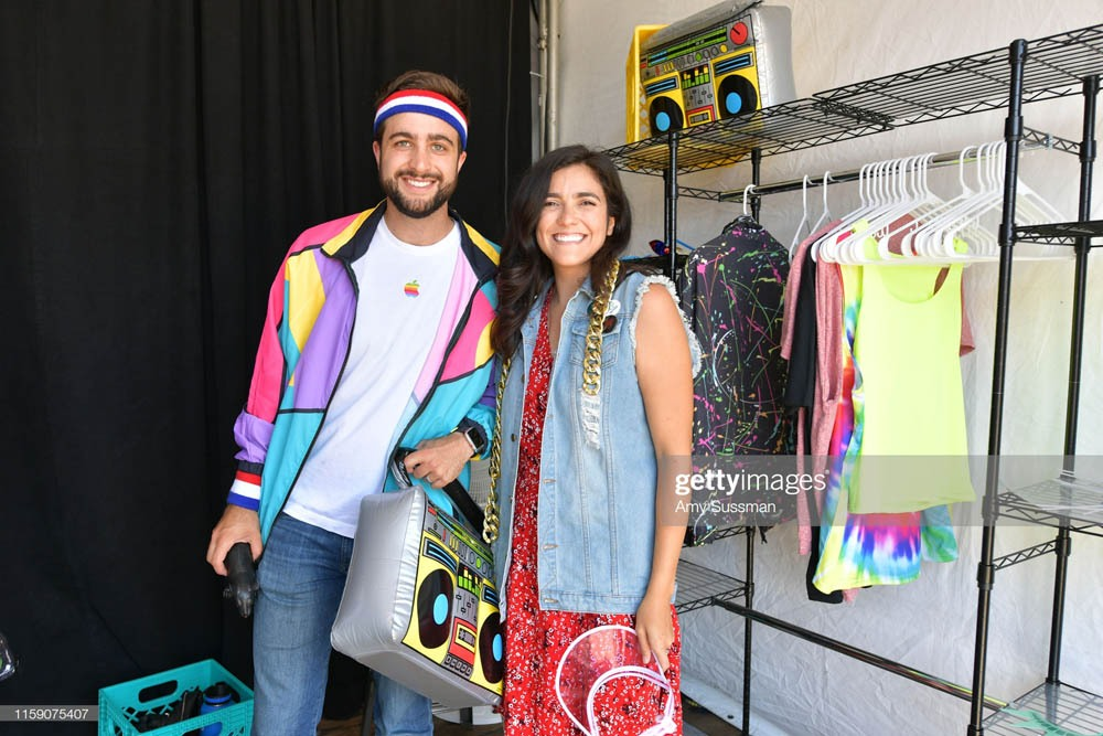 "SANTA MONICA, CALIFORNIA - JUNE 29: Fans dress-up for the 80's inspired photobooth at the Netflix's ""Stranger Things"" Season 3 Fun Fair at Santa Monica Pier on June 29, 2019 in Santa Monica, California. (Photo by Amy Sussman/Getty Images)"