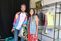 "SANTA MONICA, CALIFORNIA - JUNE 29: Fans dress-up for the 80's inspired photobooth at the Netflix's ""Stranger Things"" Season 3 Fun Fair at Santa Monica Pier on June 29, 2019 in Santa Monica, California. (Photo by Amy Sussman/Getty Images)"