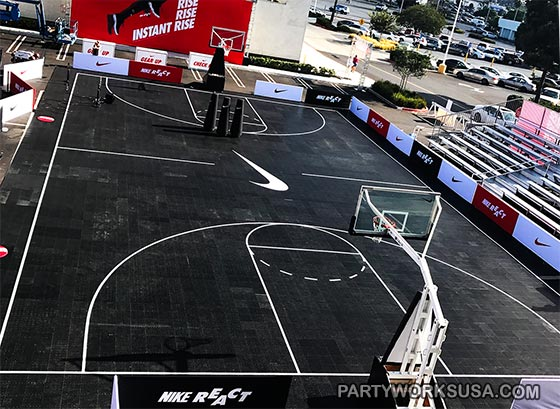 Basketball Court Rental Los Angeles Partyworks Inc