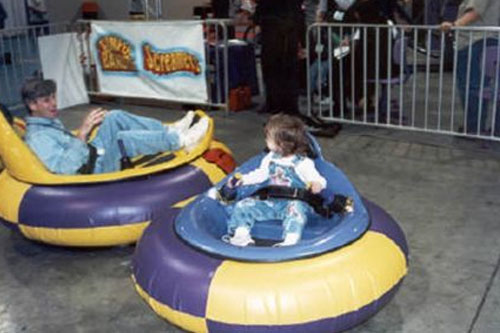 Space Racer Bumper Cars Los Angeles Partyworks Inc Equipment