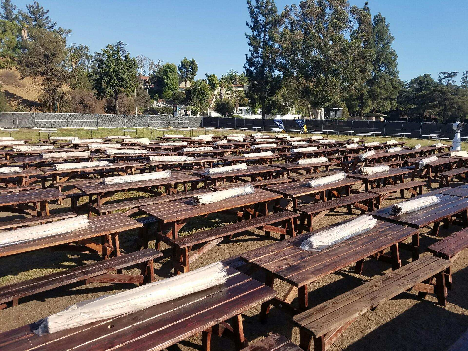Picnic Tables Los Angeles PartyWorks Inc Equipment Rental - Picnic table rentals los angeles