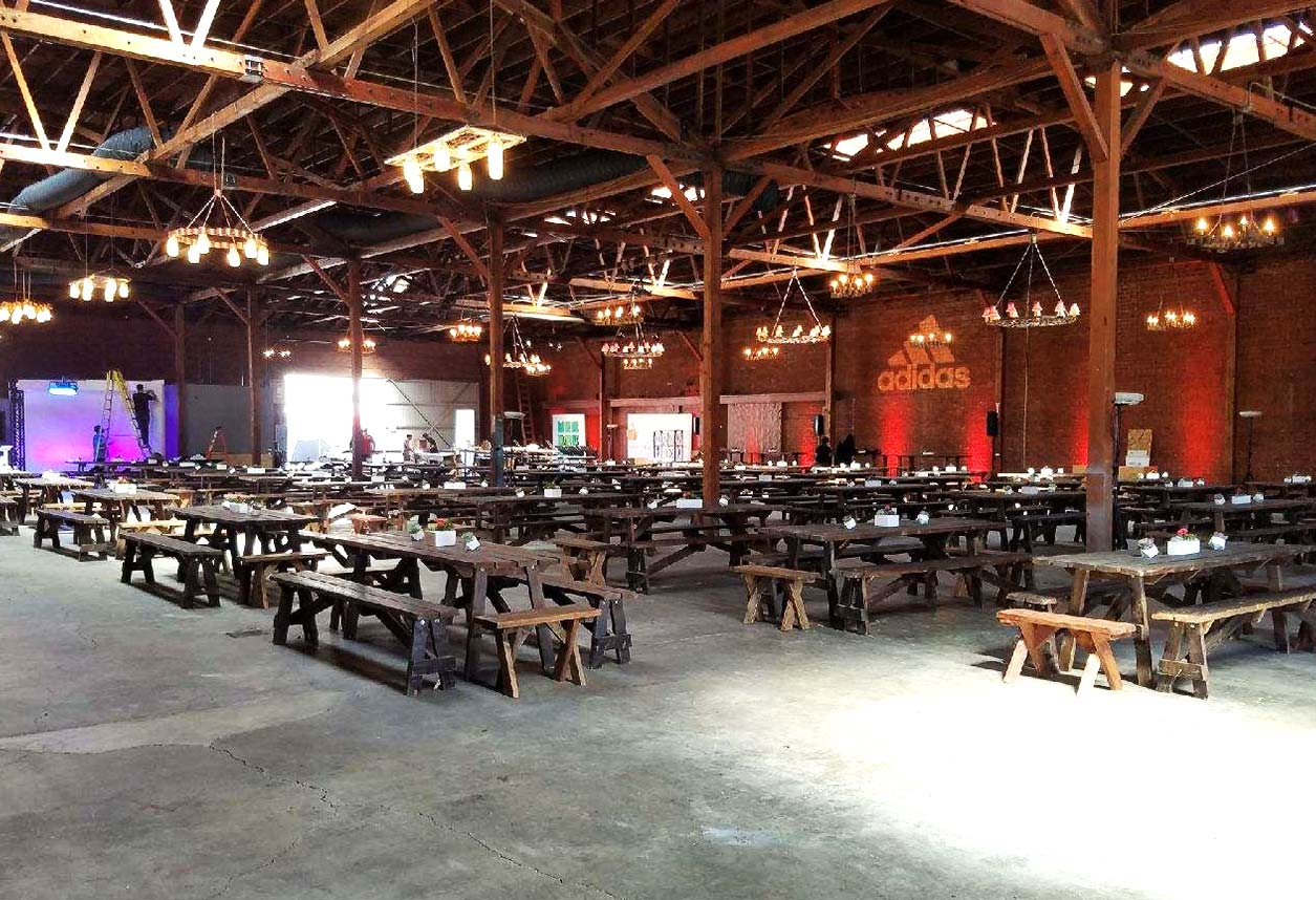 Picnic Tables Los Angeles PartyWorks Inc Equipment Rental - Picnic table los angeles