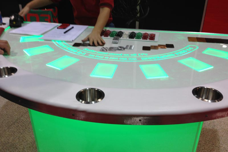 Led Black Jack Table 171 Los Angeles Partyworks Inc