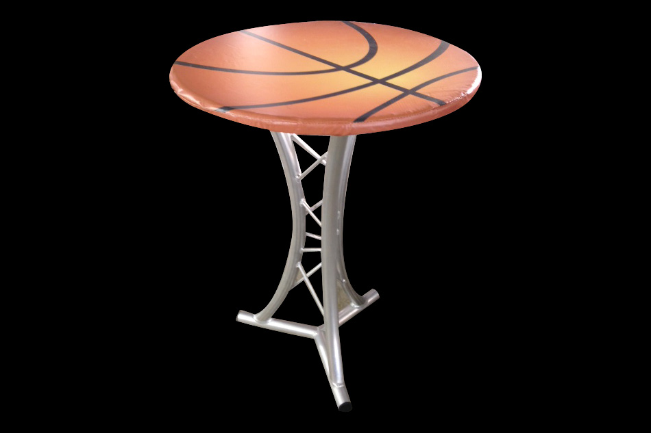 Bball cocktail table for Cocktail tables rental los angeles