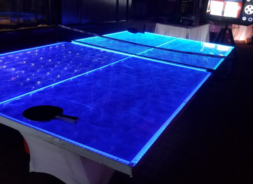 Led Ping Pong Table 171 Los Angeles Partyworks Inc