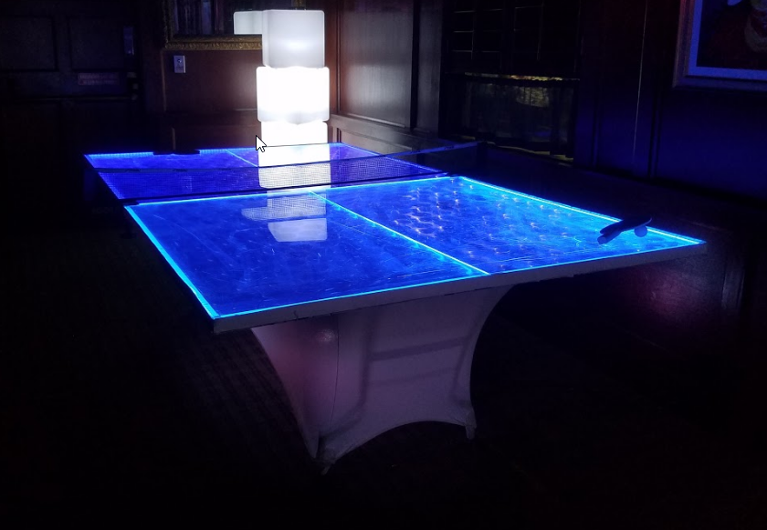 Captivating LED Ping Pong Table