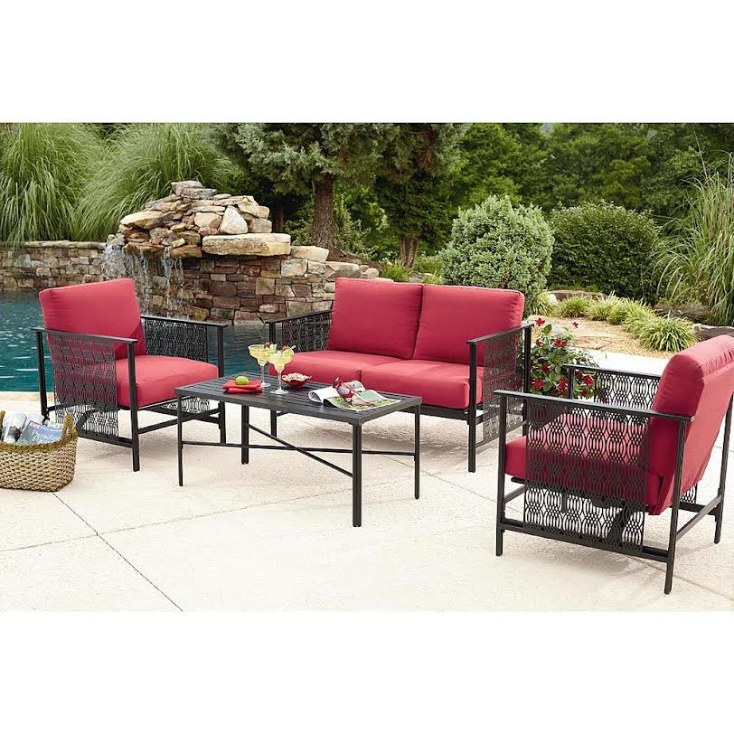 Red outdoor furniture los angeles partyworks inc for Outdoor furniture rental
