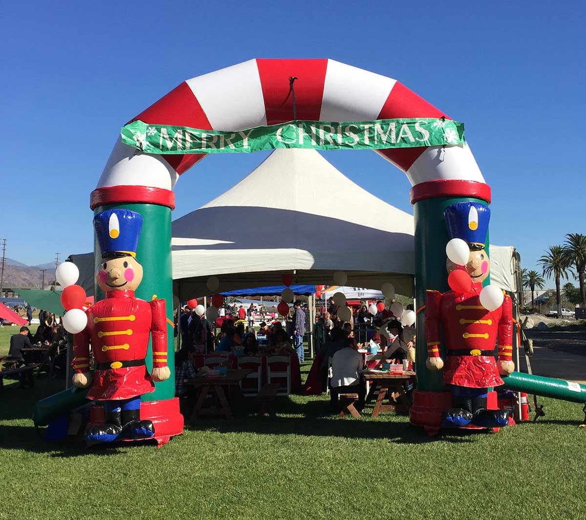Christmas Decorations Santa Clarita Ca: Christmas Entry Arch Inflatable « Los Angeles PartyWorks