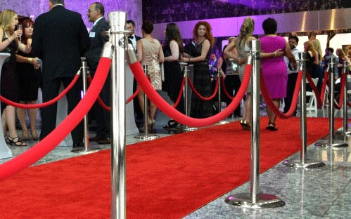 Red Carpet Stanchions Rental