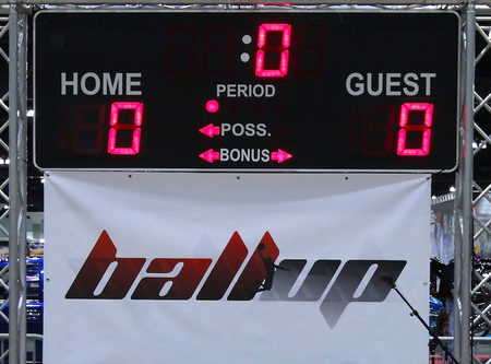 Backboard with Scoreboard
