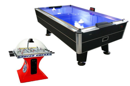 Bubble Hockey and Air Hockey