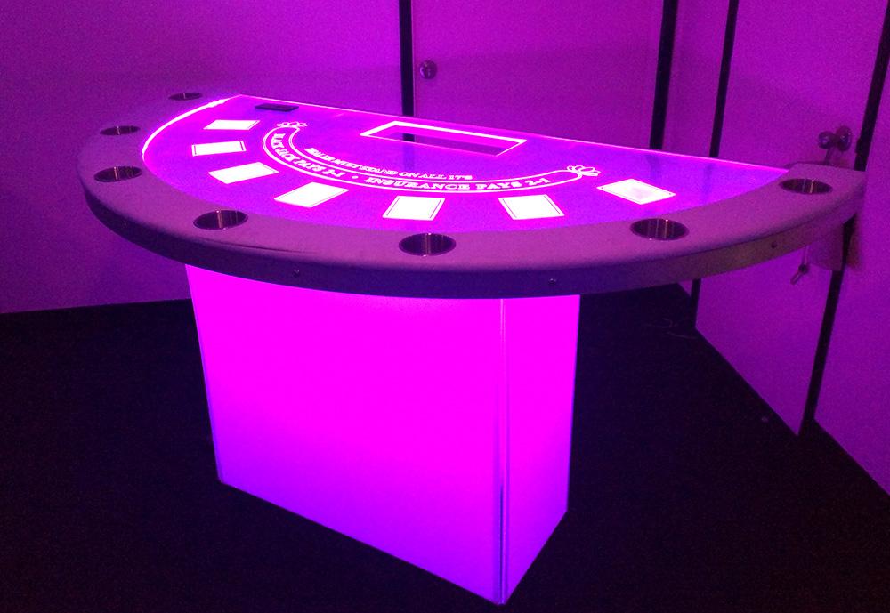 Incredible Led Black Jack Table Partyworks Interactive Beutiful Home Inspiration Xortanetmahrainfo