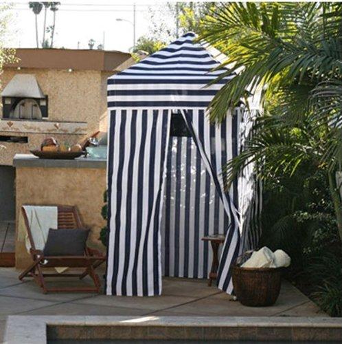 Beach Cabana Blue Stripe 4 X4