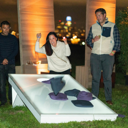Giant LED CORN HOLE Toss