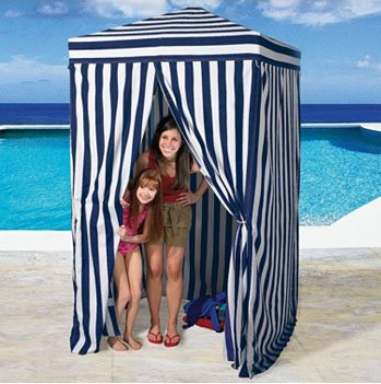 Beach Cabana - Blue Stripe Cabana 4'x4'