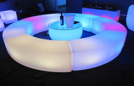 LED Curved Bench / Coffee Table