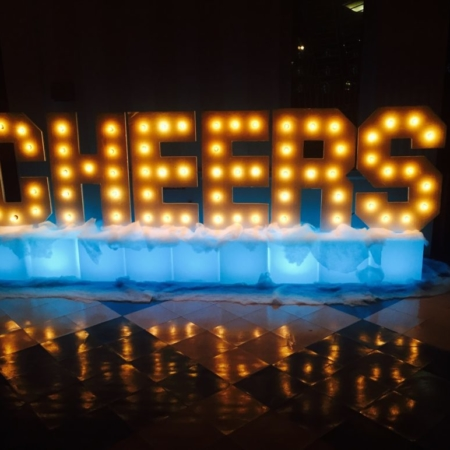 Marquee Cheers Sign