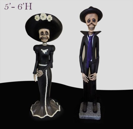 Day of the dead characters ( dia de los muertos )