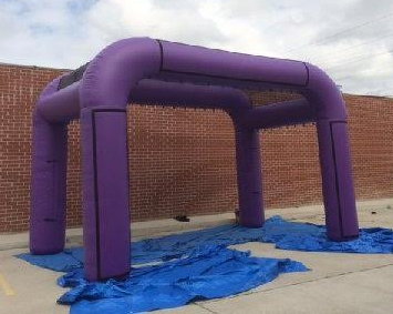 Purple Entrance Arch / Inflatable