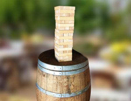 Jenga on a Barrel
