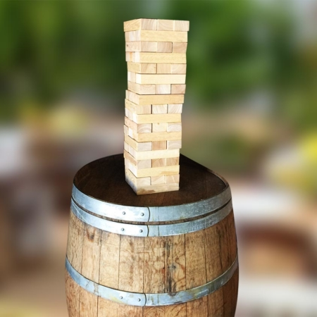Jenga on a Barrel