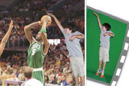 Basketball Green Screen