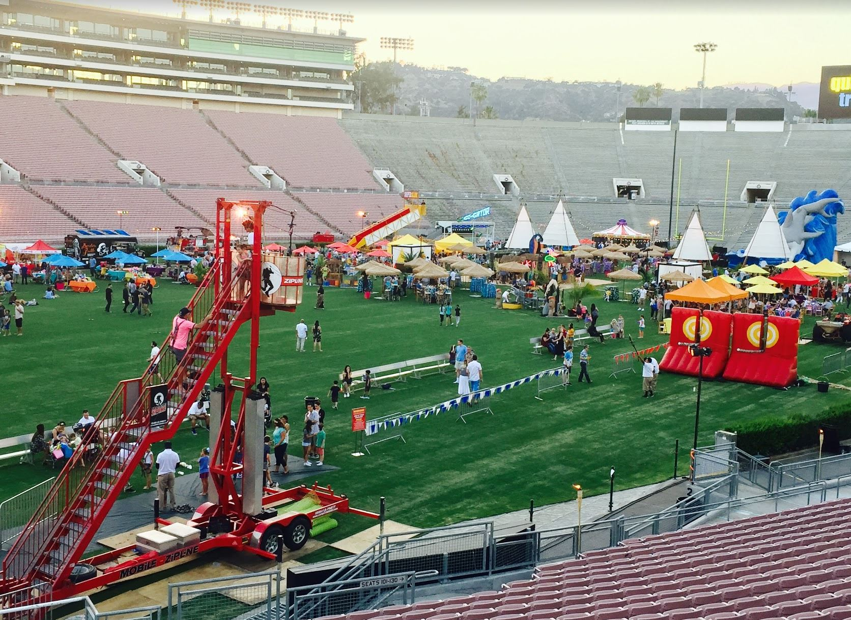Picture of: Mobile Zip Line Partyworks Interactive