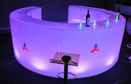 LED Round Bar Counter