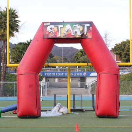Start and Finish inflatable obstacle course