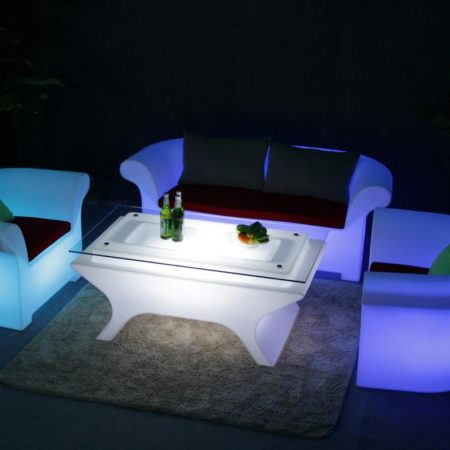 Led Lit Tea Table